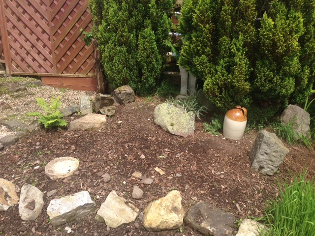 The Rockery - before