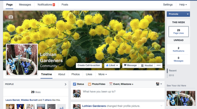A new facebook community for Gardeners in & around The Lothians