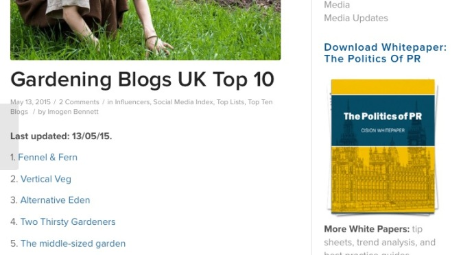 Top 10 UK Gardening Blogs