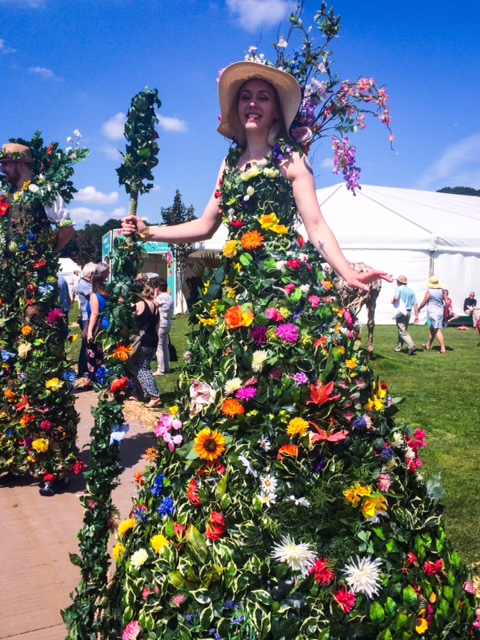a truly floral dress